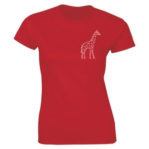 Half It Tops - Geometric Giraffe Pocket Animal Lover T-shirt Tee